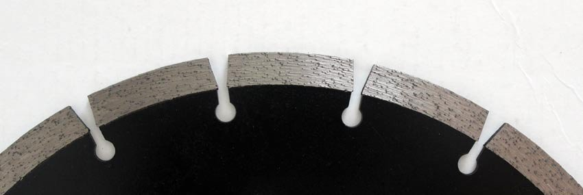 Example of a sintered diamond blade